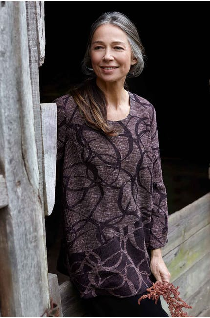 Photo of Abstract Circle Jacquard Top