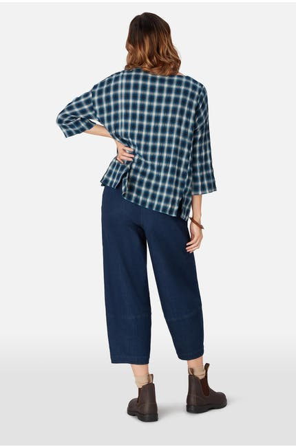 Shadow Check Boxy Top