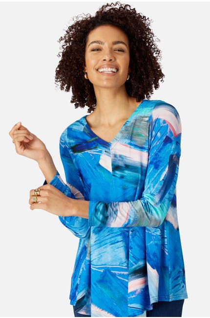 Abstract Painted Jersey Top