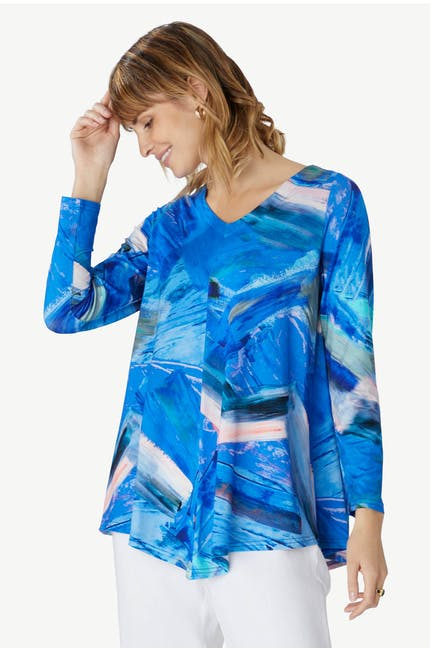 Photo of Abstract Painted Jersey Top