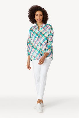 Photo of Diagonal Check Print Shirt