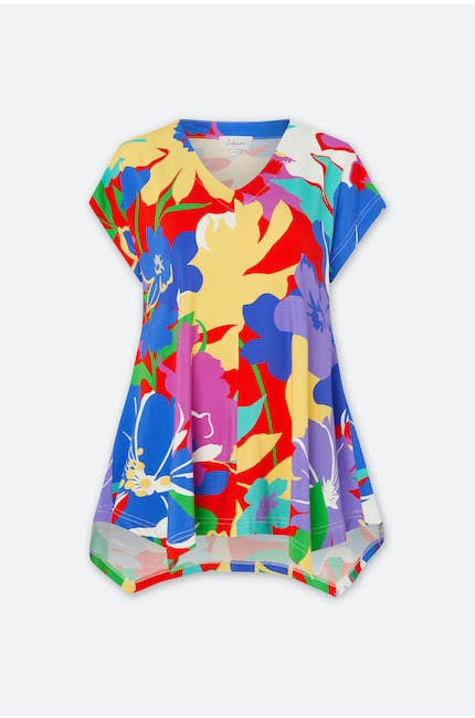 Photo of Retro Floral Jersey Top