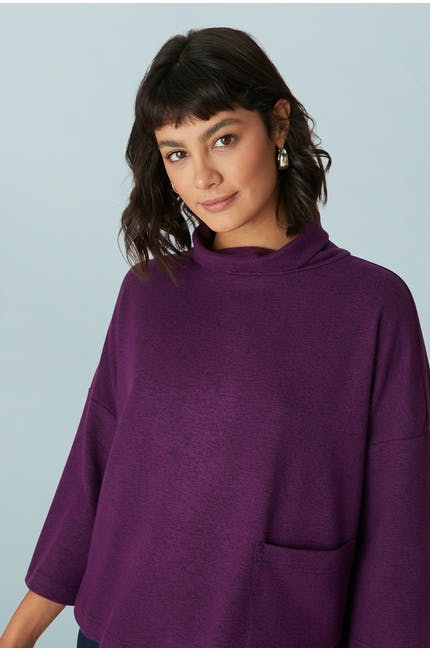 Speckled Brush Jersey Top