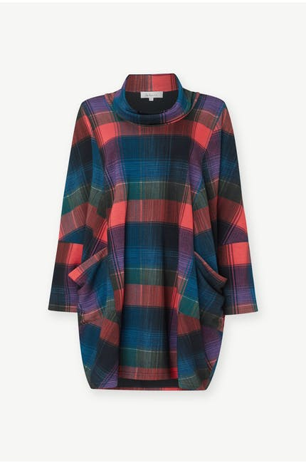 Graphic Check Jersey Tunic
