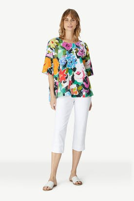 Photo of Painted Floral Linen Top
