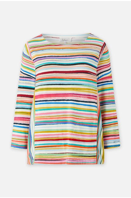 Multi Colour Stripe Jersey Top