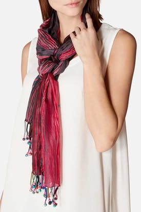 Photo of Fuchsia Mix Silk Scarf