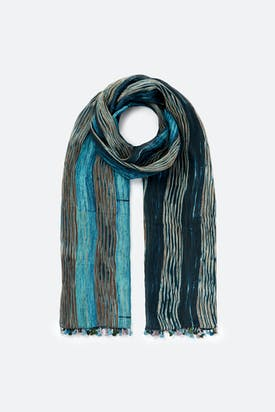Photo of Blended Silk Stripe Scarf