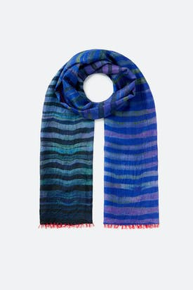 Photo of Blue Stripe Scarf