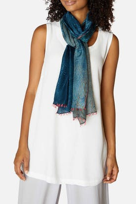 Photo of Graduated Silk Tassel Scarf