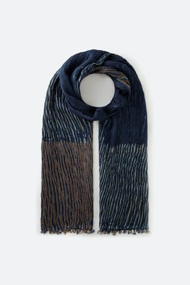 Photo of Crinkle Shibori Silk Scarf