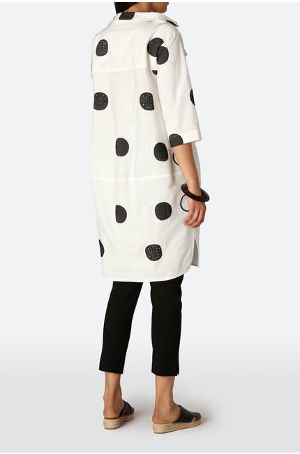 Spot Pocket Dress