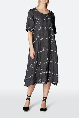 Photo of Signature Print Linen Dress