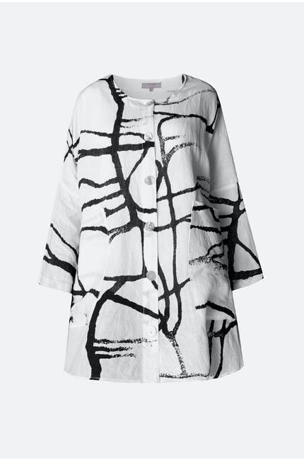 Abstract Linen Shirt
