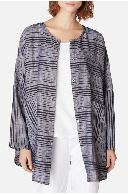 Stripe Pocket Jacket