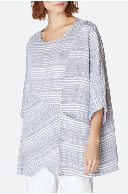 Photo of Stripe Asymmetric Tunic