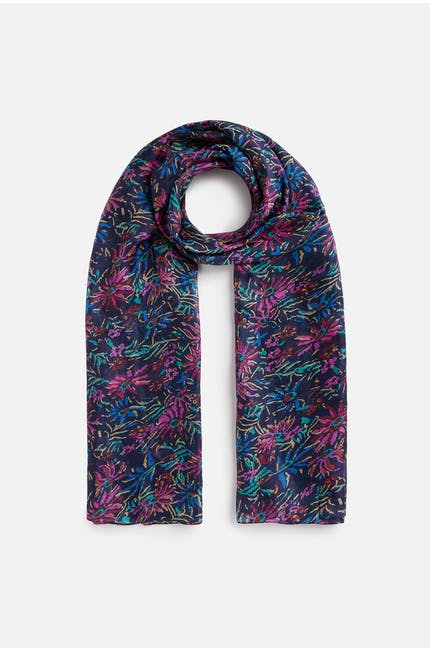 Photo of Midnight Floral Silk Scarf