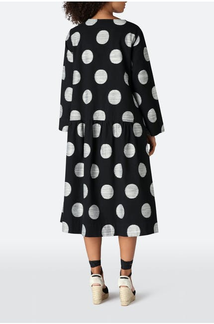 Spot Weave Shirt Dress