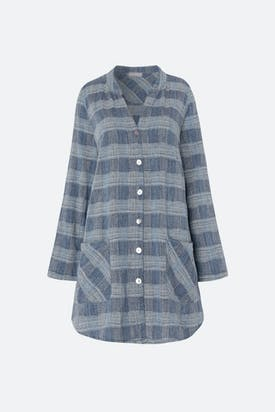 Photo of Chambray Cotton Check Shirt