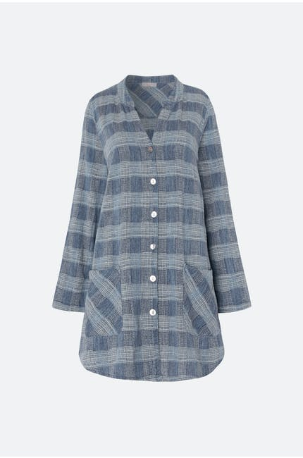Chambray Cotton Check Shirt