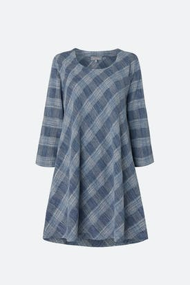 Photo of Chambray Cotton Check Tunic