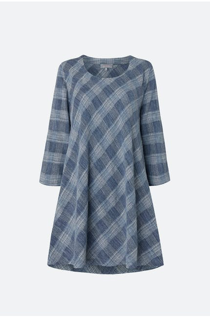 Chambray Cotton Check Tunic