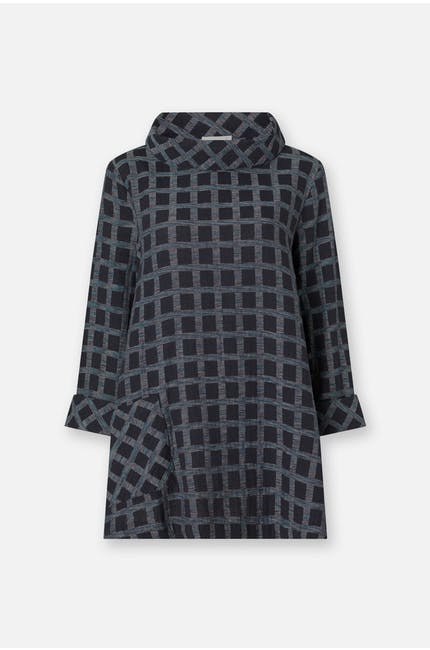 Cotton Ikat Check Tunic