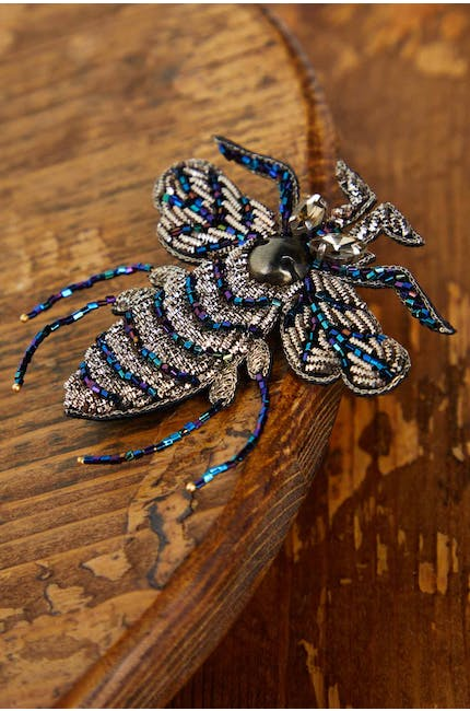 Embroidered Bee Brooch