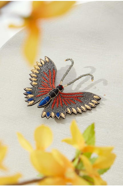 Photo of Stitch Detail Butterfly Brooch