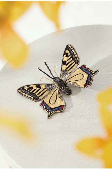 Photo of Silver Detail Butterfly Brooch