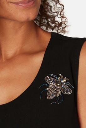 Photo of Embroidered Bee Brooch