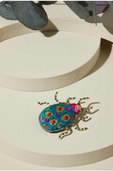 Photo of Turquoise Detail Beetle Brooch