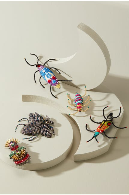 Photo of Embroidered Beetle Brooch