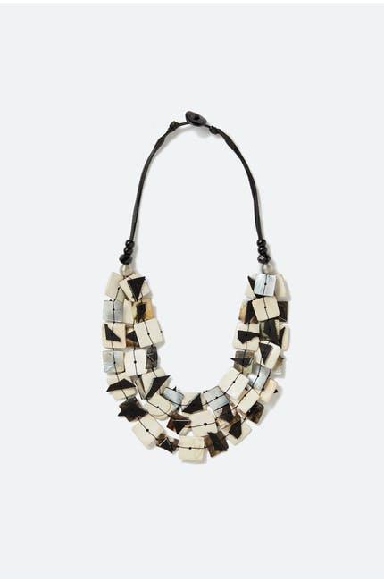 Black Ivory Fragment Necklace