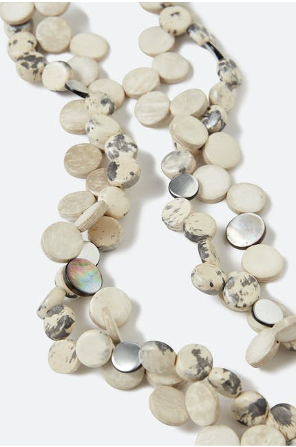 Neutral Pebble Necklace