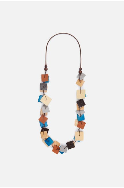 Photo of Suspended Square Necklace