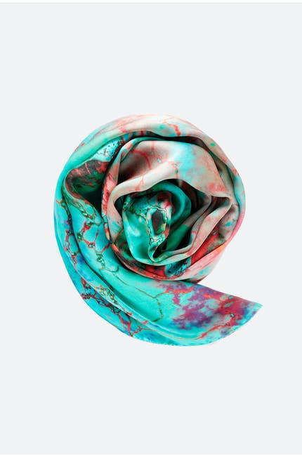 Weston Viola Silk Scarf