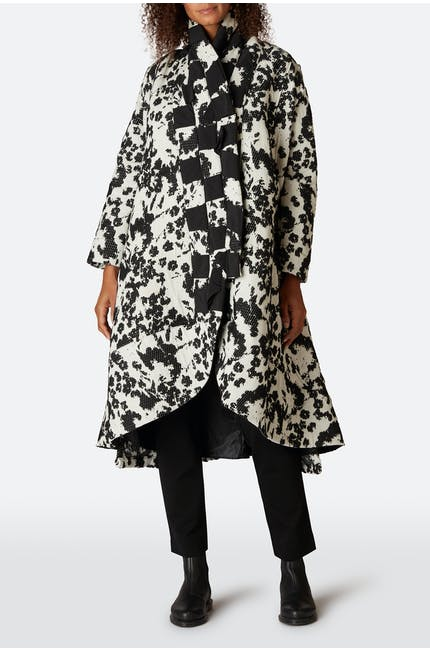 Photo of Black And White Detail Coat