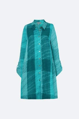 Photo of Stripe Wave Jacquard Linen Shirt